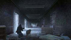 Abandoned Hallway by Lionsketch on DeviantArt Apocalypse Aesthetic, Apocalypse Art, Fantasy Character Design, Character Art, Fallout 4 Survival, Scary Images, Post Apocalyptic Art, Concept Art World, Zombie Art