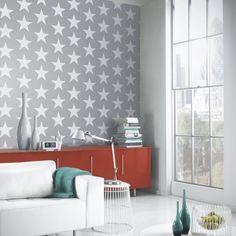 Vintage Starry Night Wallpaper Silver (891301)