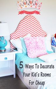 ways to decorate your kid 39 s rooms for cheap