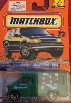 MATCHBOX CHEVY Transport Bus National Green Speedy Delivery 24 #Matchbox #Chevrolet