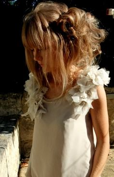 Super Fine Polyester Chiffon Water Dress in Champagne and Light Beige. Ruffles dress.