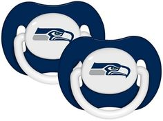NFL Baby Infant Pacifier Solid Color 2-Pack (Seattle Seahawks)