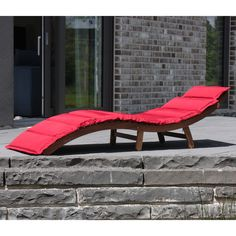 Eco Box Bora Bora Lounger with Red Cushion – Next Day Delivery Eco Box Bora Bora Lounger with Red Cushion from WorldStores: Everything For The Home