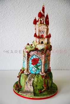 Disney Beauty and the Beast Castle Cake — Whimsical / Topsy-Turvy Cakes