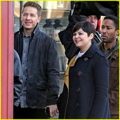 Pregnant Ginnifer Goodwin & Josh Dallas Film 'Once Upon a Time' Together!