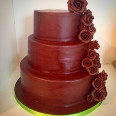 3 tier all chocolate wedding cake