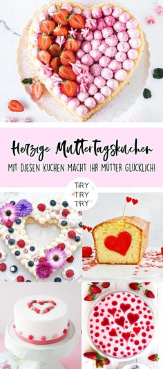 9 herzige Muttertags Kuchen Raspberry Mousse Cake, Mothers Day Cake, Cereal, Muffins, Food And Drink, Sweets, Baking, Breakfast, Desserts