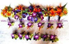 Real touch tropical bouquet in real touch by BloomBridalCreations, $138.00