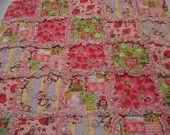 Strawberry Shortcake Baby Girl Rag Quilt Blanket