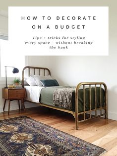 Interior stylist Anna Smith shares all her tips + tricks for decorating on a tight budget!