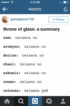 Rowan would NEVER call her Celaena.<< haha you read my mind