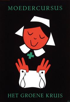 Moedercursus Het Groene Kruis - by Dick Bruna, 1963
