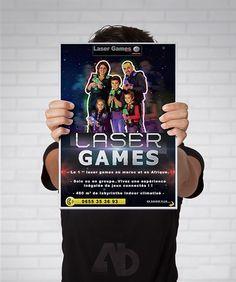 Flyer conception pour MEGAZONE Laser Games Marrakesh