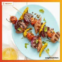 italian chicken sausage and veggie skewers 5 points+ more sausage ...