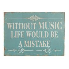Without Music Wooden Wall Decor