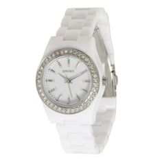 Dkny Quartz White Gem Dial White Plastic Band - Women's Watch NY8145 DKNY. Save 33 Off!. $76.99. Mineral Crystal; Quartz Movement; 32mm Case Diameter; 50 Meters / 165 Feet / 5 ATM Water Resistant