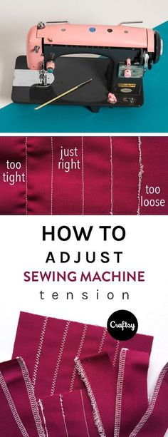 Sewing Techniques Couture - Learn how to adjust the tension on your sewing machine — plus what an ideal stitch should look like — for perfectly sewn seams, edges Sewing Basics, Sewing Hacks, Sewing Tutorials, Sewing Crafts, Sewing Tips, Sewing Ideas, Sewing Machine Basics, Sewing Machine Stitches, Learn Sewing
