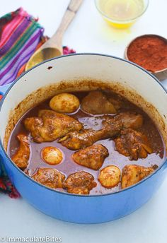 Doro Wat -Ethiopian Chicken Stew -slowly simmered in a blend of robust spices. Easy thick, comforting, delicious, and so easy to make!