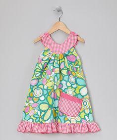 Pink Gingham Garden Trapeze Dress - Toddler & Girls