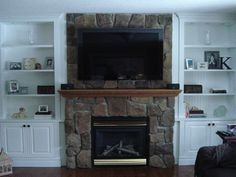 better homes and gardens fireplace bookshelves wall - Google Search