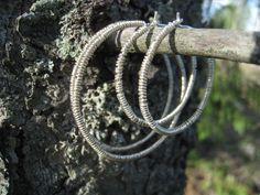 Earrings: silver wire 2013 Wire, Bracelets, Earrings, Silver, Jewelry, Ear Rings, Stud Earrings, Jewlery, Jewerly
