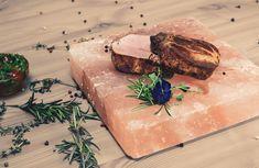 Încearcă mușchiulețul de porc pe rocă încinsă, produs semnat de Chef Mitea ! Butcher Block Cutting Board, Steak, Restaurant, Food, Diner Restaurant, Essen, Steaks, Meals, Restaurants