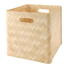 IKEA - BULLIG, Box, , A clever storage solution that helps you keep everything from magazines to clothes close at hand.You can also use the boxes in areas like the bathroom, as they are resistant to moisture.The felt pads underneath protect the surface below against scratches.Easy to lift and carry thanks to the handles on two sides of the box.