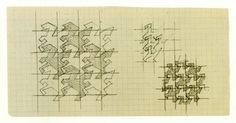 Sketches for tile tableau for the Vrijzinning Christelijk Lyceum in The Hague, 1959