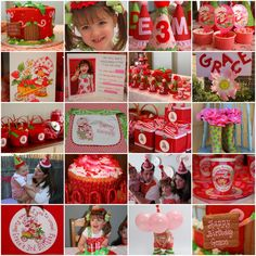 strawberry shortcake decorations - Google Search