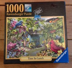 """Ravensburger Jigsaw Puzzle 1000 Pieces """"Time for Lunch"""" Lori Schory Artist Birds #Ravensburger"""