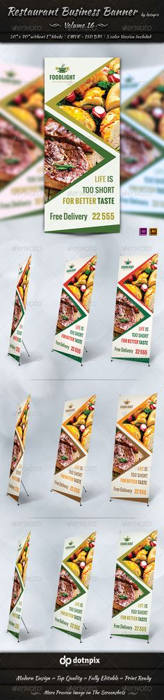 Items Worth Checking OutRestaurant Business Banner is a designed for Any types of companies. It is made by simple shapes Althoug