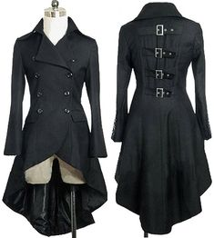 Gothic Aristocrat Metal Buckle Tail Coat