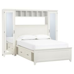 Hampton Storage Bed + Mirror Tower Set | PBteen