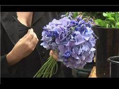 Bridal Bouquet Ideas : Blue Wedding Bouquet Ideas Hydranges