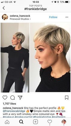 Oct 22, 2019 - This Pin was discovered by carly christine. Discover (and save!) your own Pins on Pinterest Short Hair Older Women, Short Hair Cuts, Short Hair Styles, Short Blonde Pixie, Curly Short, Long Pixie Hairstyles, Short Hairstyles For Women, Pixie Haircuts, Great Hair