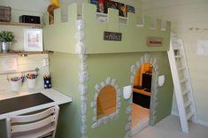 Vicky's Home: Home tour, a full inspiration / Home tour Nordic house, a house full of Nordic inspiration Shabby, Modern Kitchen Design, Kids House, House Tours, Kids Room, Shelves, Bedroom, Furniture, Home Decor