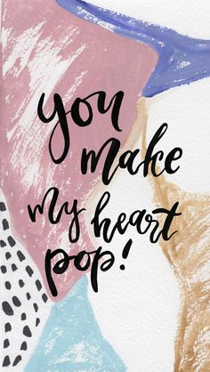 St. Valentine's Day Free iPhone Wallpaper // You make my heart pop #wallpaper #iphonewallpaper #freedownloads #saintvalentinesday #love