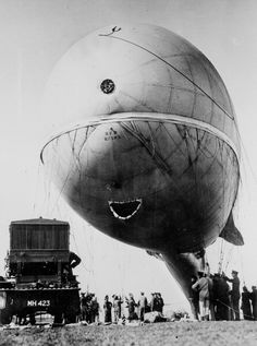 World War I English observation balloon of the Royal Flying Corps
