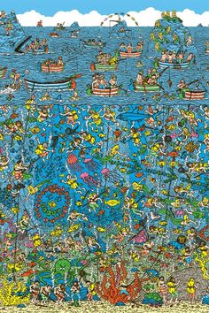 Would use where's wally to teach an unplugged coding lesson on Algorithms Hidden Pictures, Funny Pictures, Ou Est Charlie, Find The Hidden Objects, Plus Belle La Vie, Wheres Wally, Quiz, Brain Teasers, Pixel Art