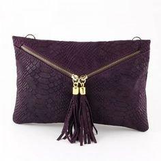 Handmade Python Leather Violet Clutch Ladies Womans by oSoFancy, $64.99