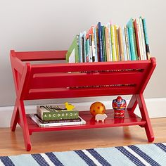 Good Read Trough Book Caddy (Red) in Bookcases & Caddies | The Land of Nod
