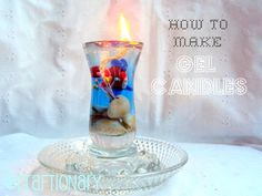 Make easy gel wax candle A DIY tutorial to help you make gel candles