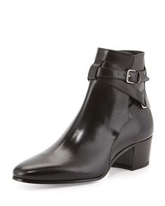 Blake Leather Jodhpur Bootie by Saint Laurent at Bergdorf Goodman.