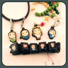 Tiny Saints charms, rosaries, and bracelets, designed by Catholic parents for Catholic kids!