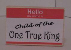 PALANCA:  Child of the One True King block