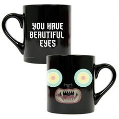 You have beautiful eyes. This mug features Beatrice from the animated series,  Over the Garden Wall .