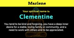 Find out your true spirit name.