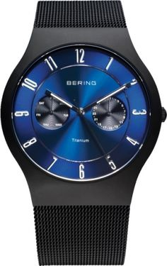 BERING Time Men's Classic Collection Watch with Mesh Band and scratch resistant sapphire crystal. Men's Watches, Casual Watches, Cool Watches, Wrist Watches, Fashion Watches, Titanium Watches, Tommy Hilfiger, Best Watches For Men, Online Watch Store