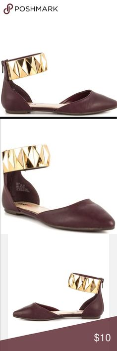 🎀 justfab burgundy Kayla women's flats 🎀 In great condition. Very dressy and stylish JustFab Shoes Flats & Loafers