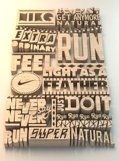 Wooden type #typography #nike